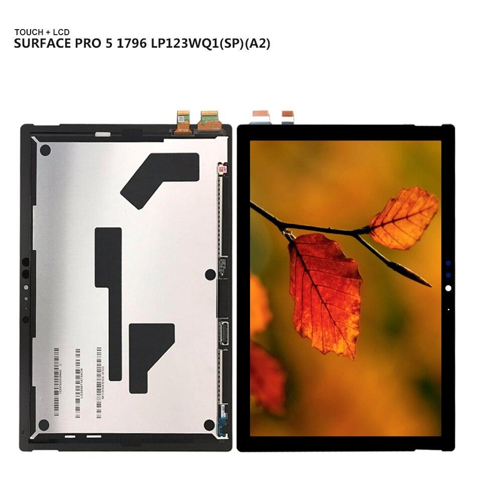 Pour Microsoft surface pro5 pro 5 modèle 1796 LP123WQ1 (SP) (A2) LCD écran tactile numériseur assemblage outils gratuits