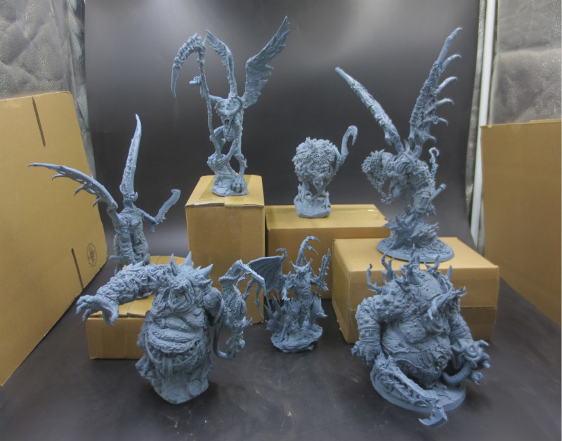 7PCS 1/16 Scale Resin Figure Model Kit Wargame Chaos Seven Devil Static Modelling Assembly DIY Toys Hobby Tools