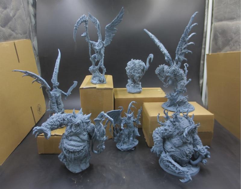 7PCS 1/16 Scale Resin Figure Model Kit Wargame Chaos Seven Devil Static Modelling Assembly DIY Toys Hobby Tools