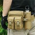 Men Waterproof 1000D Nylon Travel Military Water Bottle Hip Belt Messenger Shoulder Belt Fanny Pack Waist Bag