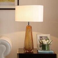 Пост современный минималистский Кристалл светодиодный настольные лампы творческая гостиная спальня исследование дома осветительных приб
