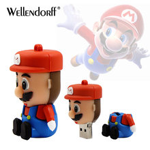 Super Mario Cartoon pendrive U disk 128gb 64gb funny Usb flash drive 32gb 16gb memory stick 8gb 4gb pen drive free shipping(China)