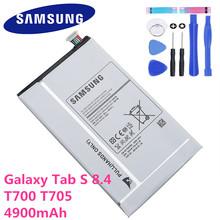 4900 mAh Tablet Samsung wymiana bateria do Samsunga Galaxy Tab S 8 4 T700 T705 SM-T700 T701 SM-T705 EB-BT705FBE EB-BT705FBC tanie tanio Oryginalny 3501 mAh-5000 mAh