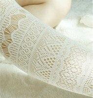 Princess Lolita Pantyhose AOPOOSS Hollowed Lace Jacquard Velvet Hose Small Fishnet Mesh Tights Nets Sexy Black