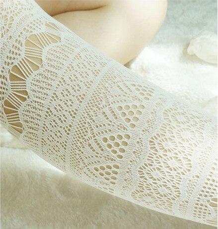 Princess lolita pantyhose AOPOOSS hollowed lace jacquard velvet hose Small fishnet mesh tights nets sexy black lace pantyhose