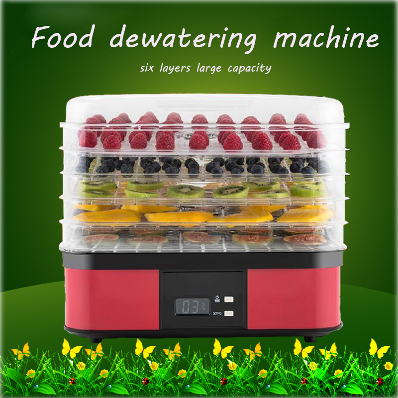 250w food dryer household fruit and vegetable dehydration air dryer dry fruit machine household fruits vegetables herbs and pet snacks automatic timed mini dehydration air dried machine 4 floors