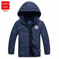 2017 Fashion Brand Children's Boys/Girls Fleece Jacket Kids Coat Hoodies Windbreakers Boys Sport Jackets 4-15T For Spring Autumn