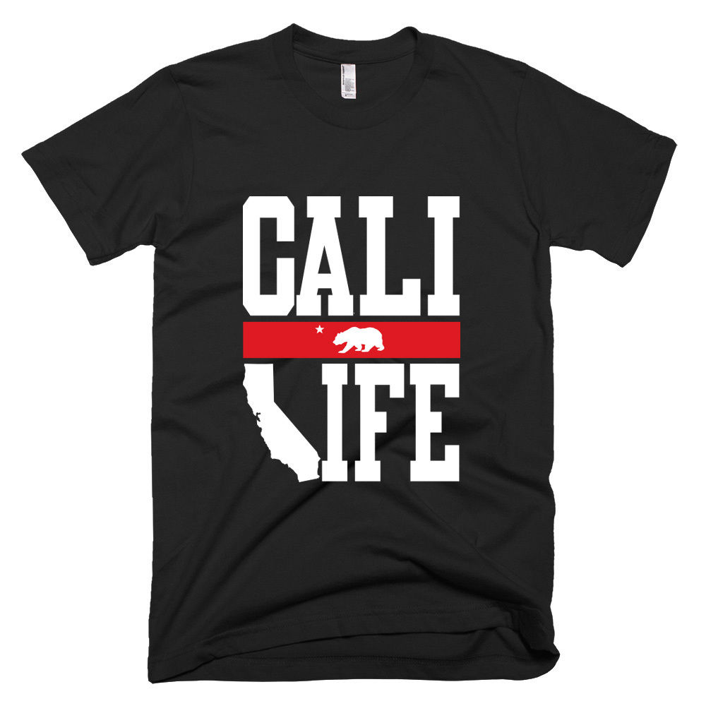 CALI LIFE CALIFORNIA REPUBLIC -Round Neck Best Selling Male Natural Cotton Shirt TOP TEE