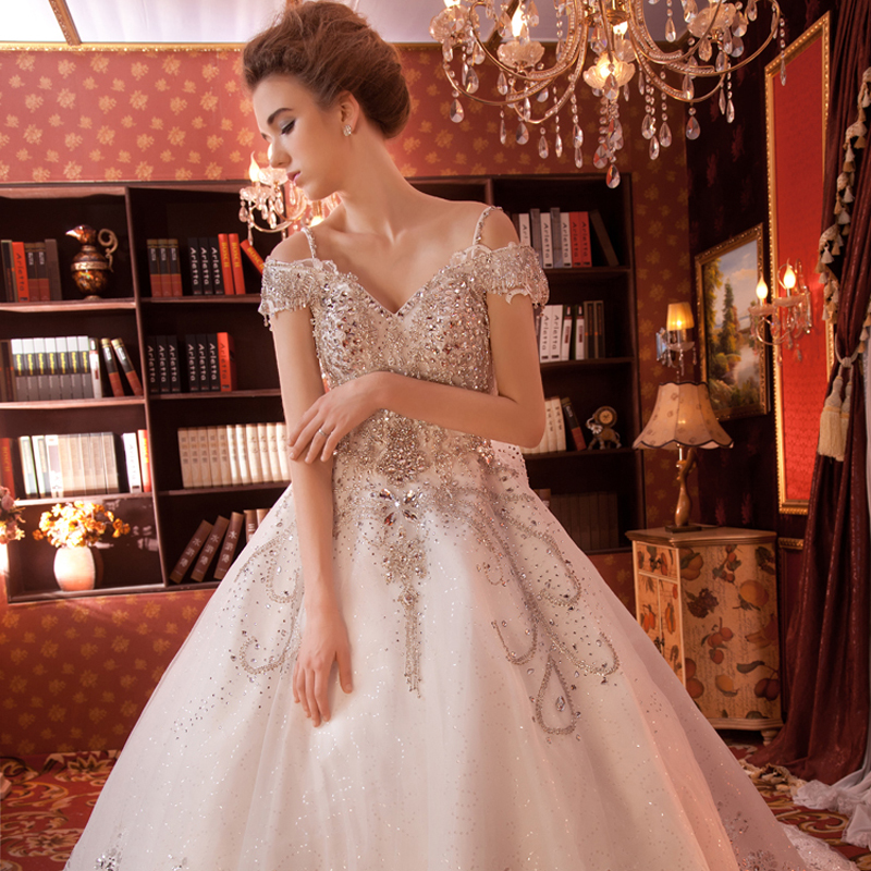 New Bridal Wedding Gown Centre: New Arrival Luxury Beaded Crystal Wedding Dress Gorgeous