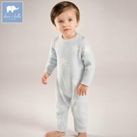 DB6020 Dave Bella Autumn New Born Baby Girls Boys Knitted Sweater Romper Infant Toddler Children Stars