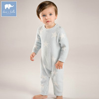 DB6020 Dave Bella Autumn New Born Baby Girls Boys Knitted Sweater Romper Infant Toddler Children Stars