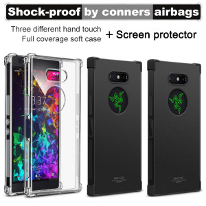 Image 2 - IMAK sFor Razer Phone2 Case Cover Shockproof Silicone Soft Transparent TPU Case For Razer Phone 2 With Screen Protector