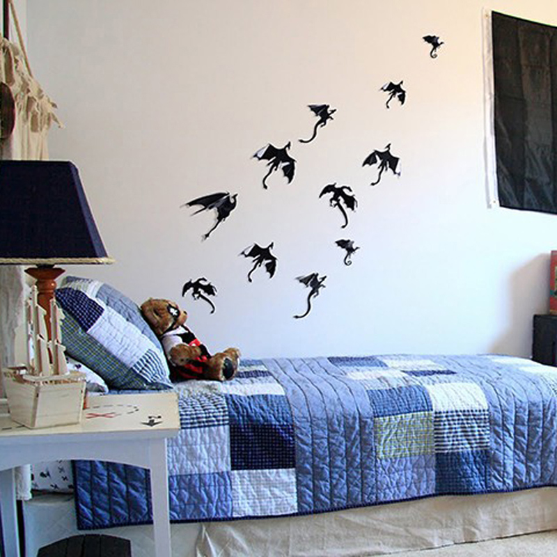 7pcs game of thrones inspired 3d dragon wall sticker halloween