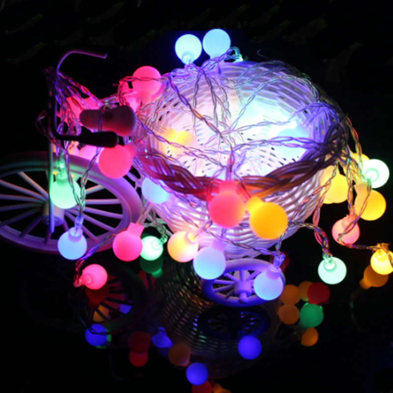 4m christmas lights outdoor led string battery operated globe fairy christmas lights balls indoor tree party wedding decoration in led string from lights