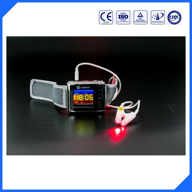Advertising hypertension laser wrist watch new products looking for distributor