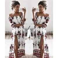 2017 Aliexpress Ebay Explosion Collar Digitalpositioningfoil Printing Split Dress Hem Spot