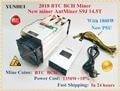 Nieuwe AntMiner S9j 14.5 T Met 1800 W PSU Asic Bitcoin SHA-256 BTC BCH BITMAIN Miner Beter Dan Antminer S9 s9i 13 T 13.5 T 14 T S11