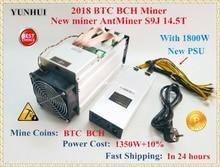 Neue AntMiner S9j 14,5 T Mit 1800W NETZTEIL Asic Bitcoin SHA-256 BTC BCH BITMAIN Miner Besser Als Antminer S9 s9i 13T 13,5 T 14T S11