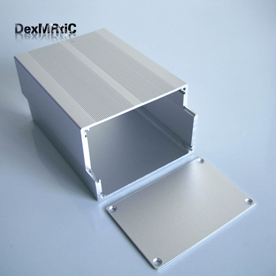 Aluminum Enclosure electrical extruded box separate type DIY 84*55*110mm NEW Silver 1 piece free shipping aluminium enclosure case aluminium extruded enclosure in silver color smooth surface silver color box