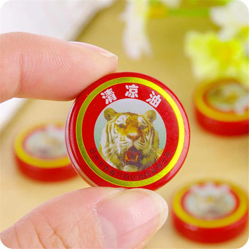 Tigre rafraîchissant pommade huile pour blanc froid vertiges essentiel Vietnam 4g tigre blanc pour maux de tête maux de dents Stomachache baume
