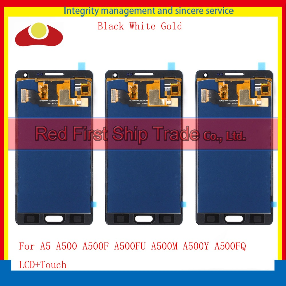 5.0 For Samsung Galaxy A5 A500 A500F A500FU A500M A500Y A500FQ Full Lcd Display With Touch Screen Digitizer Assembly Complete