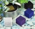 Envío libre 5mm 216 unids Multicolor Neo Cube Cubo Mágico Puzzle Bolas Magnéticas con la caja de metal