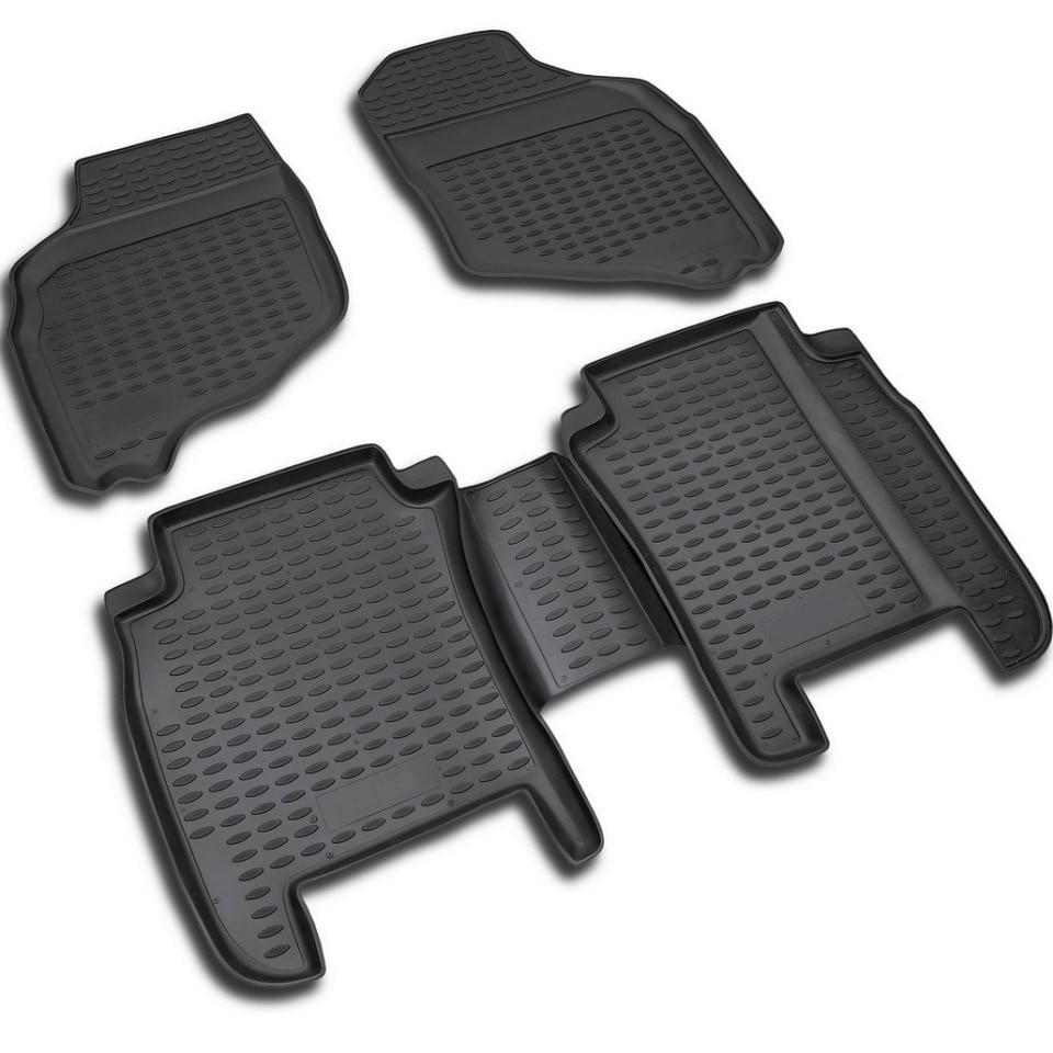 For Honda Jazz 2001-2008 floor mats into saloon 4 pcs/set Element NLC1805210 набор автомобильных ковриков element для honda jazz 2001 2008 в салон цвет черный 4 шт
