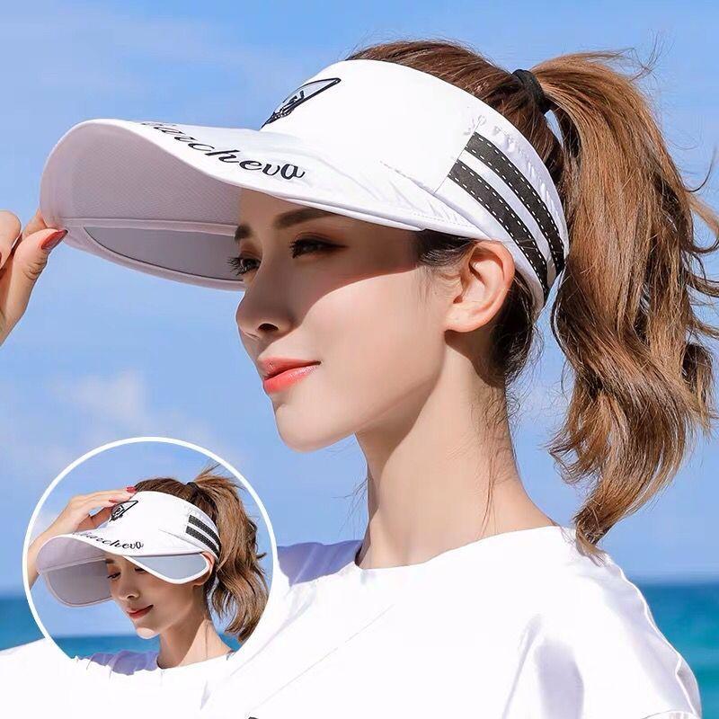 Women Cycling Sun Hat Visor Hats Summer Long Sleeve Cover UV Protection Shawl