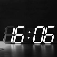 Creative Large Size 3D LED Desk Digital Electronic Alarm Clock Living Room Temperature Display Automatic Light