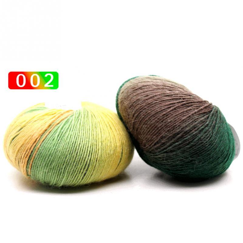 New 50g/Roll Knitted Chunky Sock Shawl Woolen Rainbow Wool Colorful Hand Knitting Scores Wool Yarn Needles Crochet Weave Thread