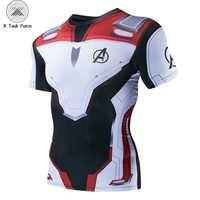Avengers 4 Endgame Quantum Krieg 3D Gedruckt T shirts Männer Kompression Shirt Iron man Cosplay Kostüm kurzarm Tops Für männlichen 4XL