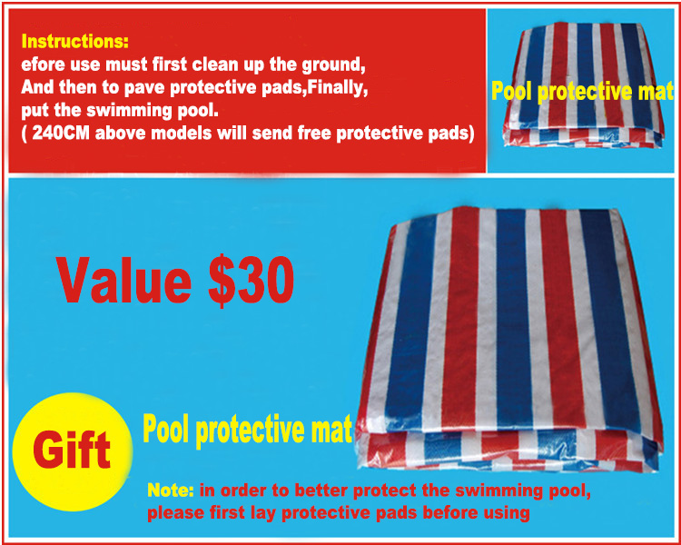 Grand adulte en plein air famille piscine ultralarge épaississement cercle enfant intérieur gonflable piscine - 5