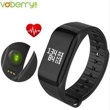 Voberry Фитнес Tracker браслет Heart Rate Мониторы Smart Band F1 SmartBand Приборы для измерения артериального давления с Шагомер Браслет