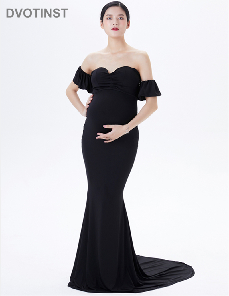 920d800cb963a Dvotinst Photography Props Maternity Dresses for Photo Shoot ...
