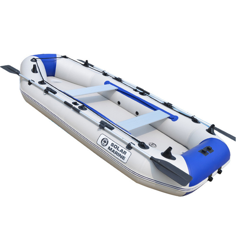 3 Person Inflatable PVC Boat Fishing Sport Kayak Canoe Pvc Dinghy Raft With Aluminium Paddle Drifting Surfing Rubber
