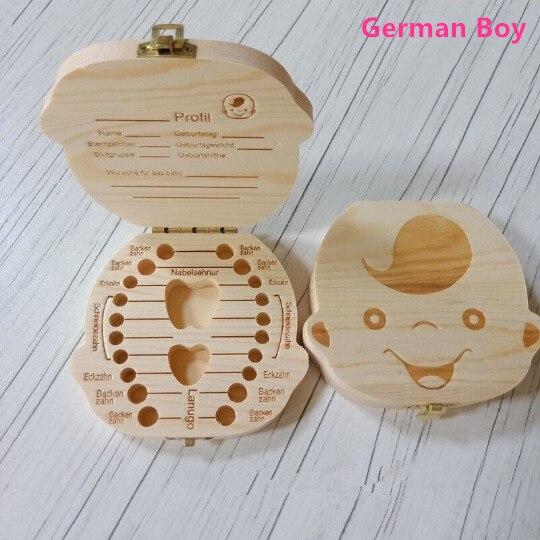 texto en ingl/és y fotos a color Porta dientes de leche para ni/ña caja con contenedor para dientes de madera