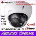 Câmera ip dahua h2.65 ipc-hdbw4431r-zs 2.8mm ~ 12mm lente varifocal motorizada 4mp ir50m com slot para cartão sd poe câmera de rede