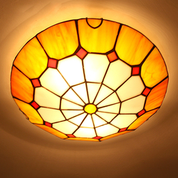 Modern fashion tiffany ceiling light fixture European colorful drawing glass ceiling lamp home deco living room e27 lamps