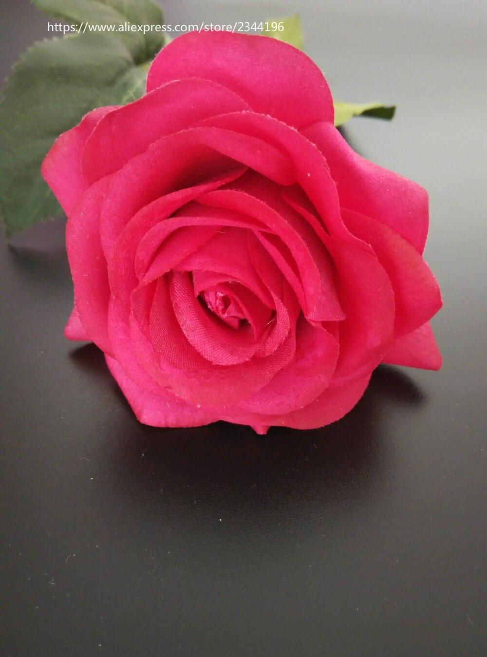 Single Shocking Pink Rose For Baby Girl Birthday Wedding Decoration