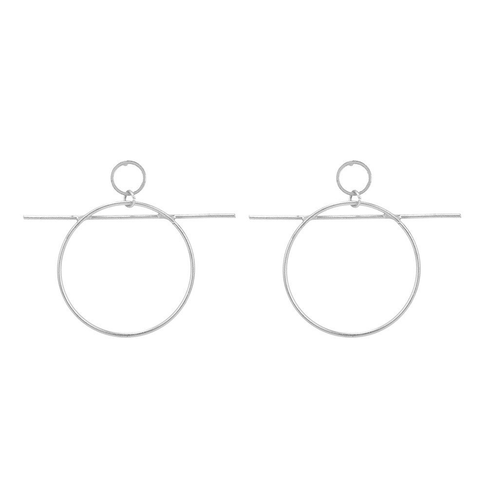 Europe and the United States foreign trade jewelry exaggerated fashion element circle word cross earrings CED80