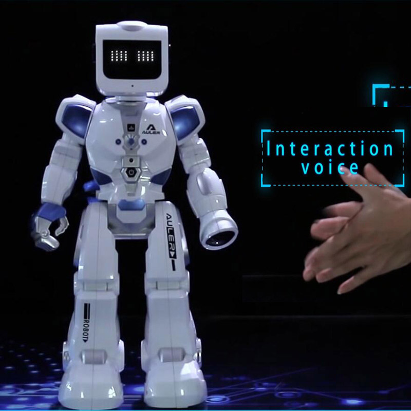 Voice Control RC Robot With English Music Water Driving Dancing Intelligent Remote Control Action Figures Toys