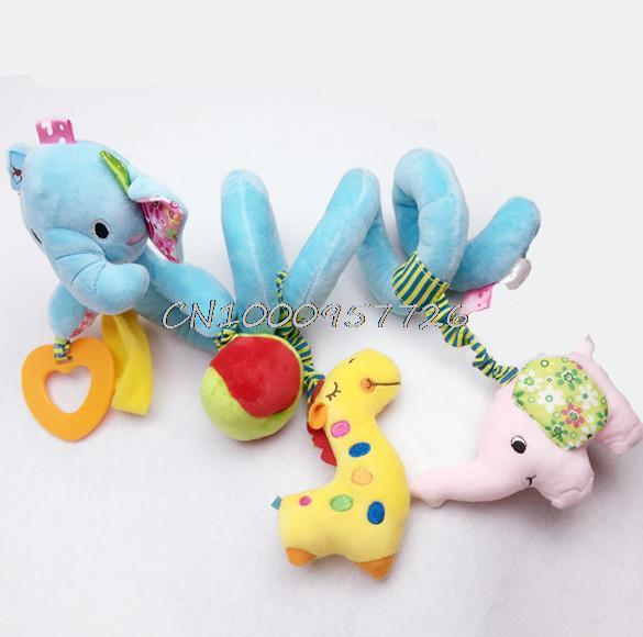 Jollybaby hot Baby animal  elephant  toy high quality baby bed hanging car hanging