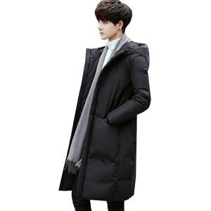 Image 5 - Russia 90% piume danatra bianca giù lungo giacche degli uomini di Inverno lungo parka Impermeabile antivento con cappuccio del cappotto maschile di Alta qualità addensare cappotti