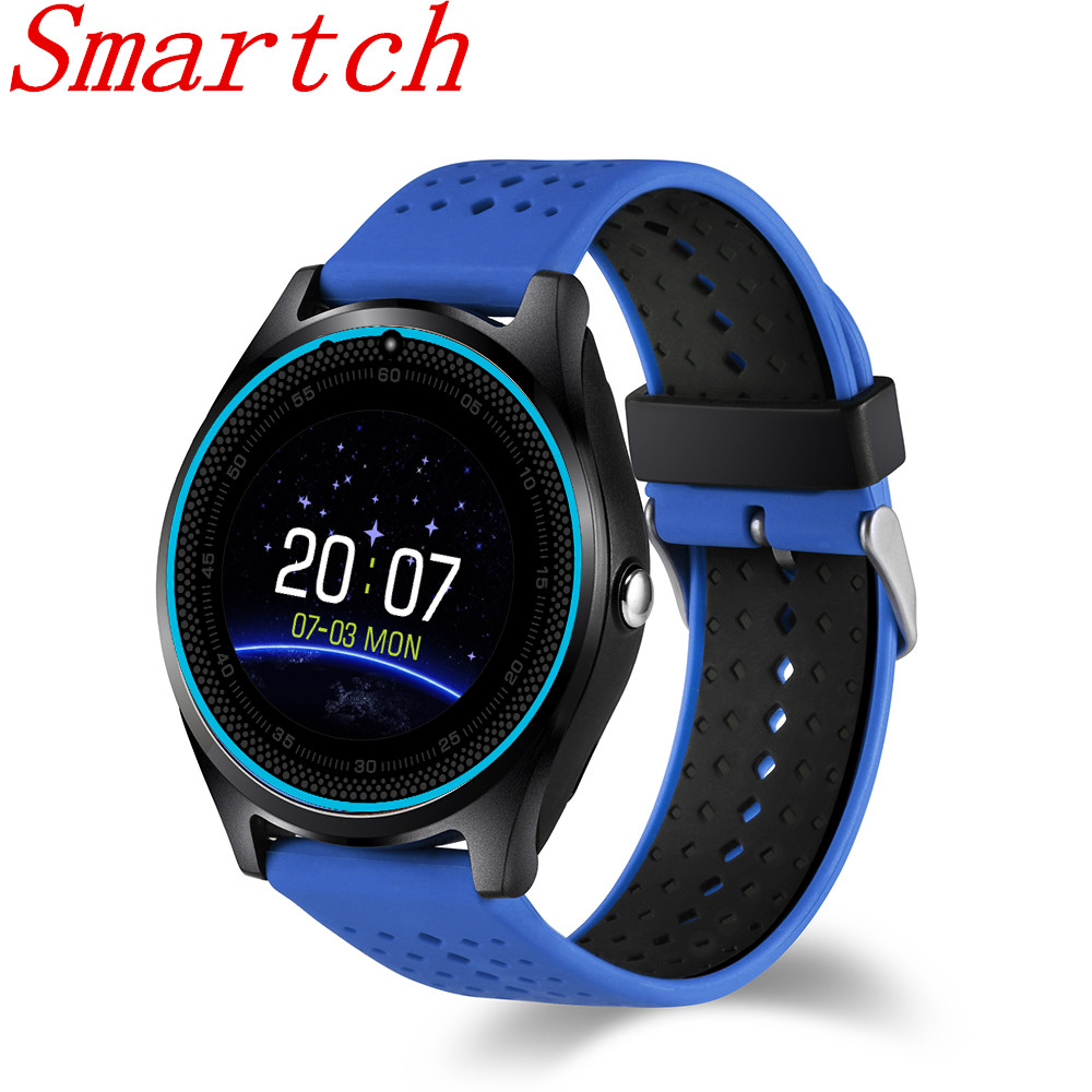 Smartch Bluetooth Smart Watch V9 Wristwatch With Camera Pedometer Health Sport MP3 Clock Micro SIM TF card 2G PK DZ09 For Androi