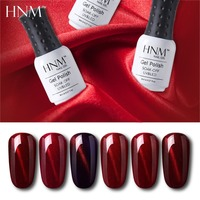 HNM 8ML Stamping Paint Gel Nail Polish Cat Eye Wine Red Series Nail Art Vernish a Ongle Stamping Semi Permanent Gelpolish Gellak