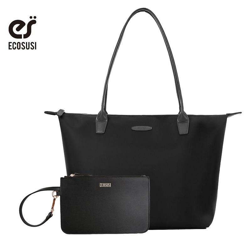 ECOSUSI 2018 नई नायलॉन बैग महिला सॉफ्ट हैंडबैग ब्रांड डिजाइन महिला मैसेंजर बैग लेडीज क्रॉसबॉडी बैग महिला हैंडबैग