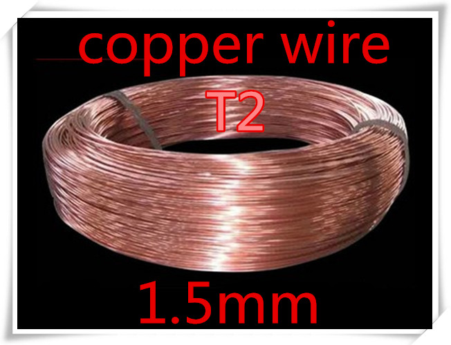 10meters 1.5mm Pure T2 copper wire, Industry Experiment DIY T2 copper wire