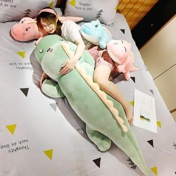 New Big Size Long Lovely Dinosaur Plush Toy Soft Cartoon Animal Dinosaur Stuffed Doll Boyfriend Pillow Kids Girl Birthday Gift 1