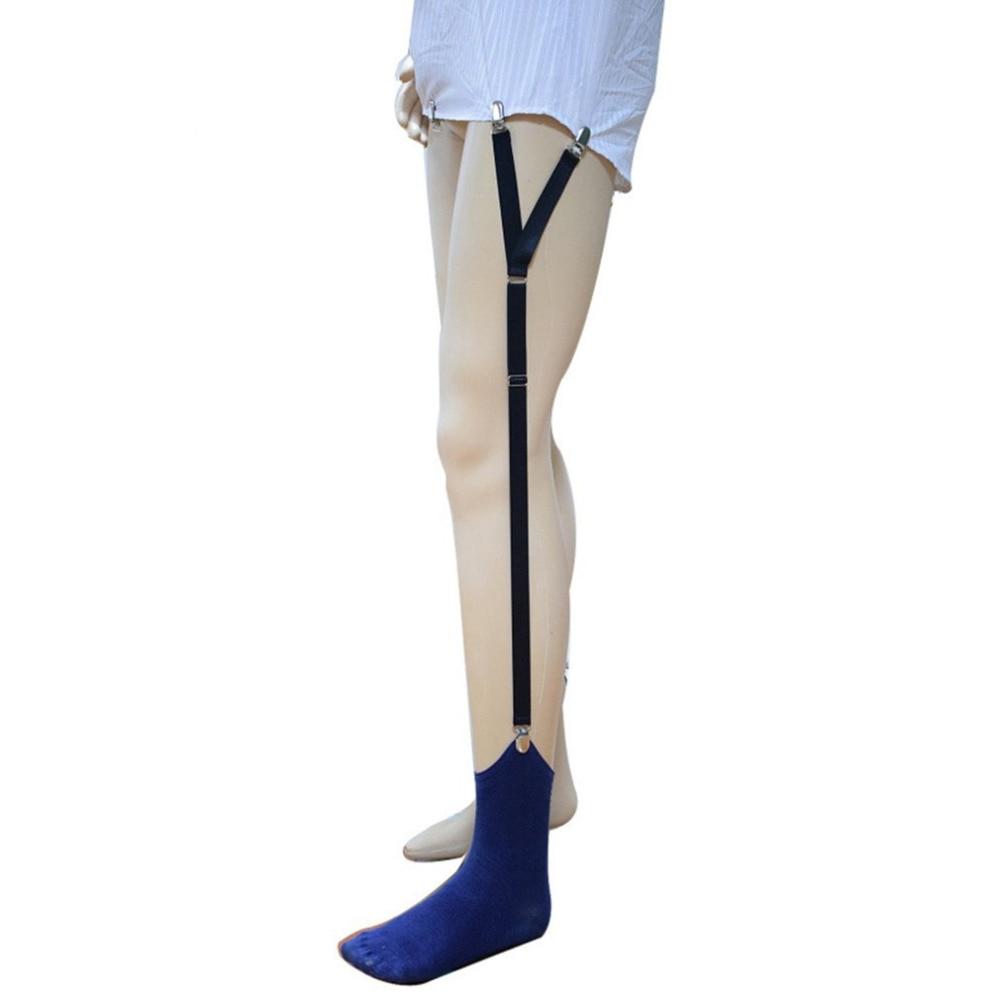 Mens Shirt Stays Holder Business Belt Suspender Shirt Garters Military Straight Stirrup Suspenders Elastic Uniform For Men Wear