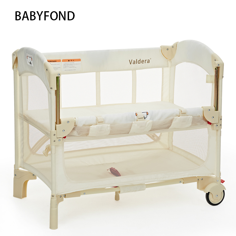 Valdera Baby Bed Can Be Docked With Mosquito Net Multifunctional Portable Folding Bed